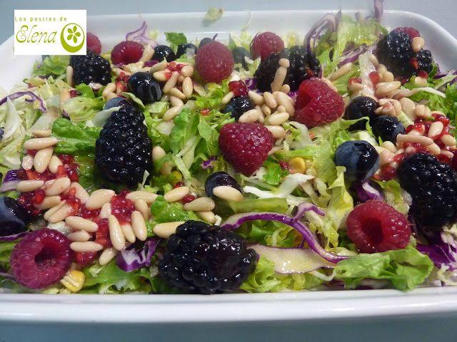 #Ensalada de #col con frutos rojos y #vinagreta de #piñones #Recetas #Recipes #Vegetariana #Vegana #Vegetarian #Vegan #Tenerife #Canarias #España