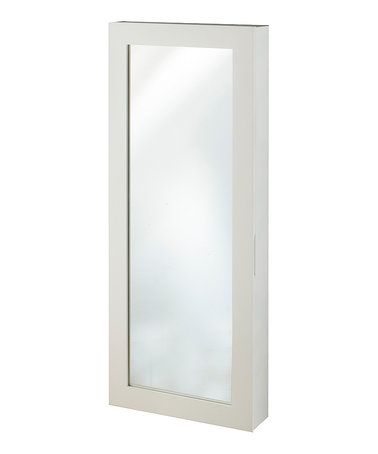 Loving this White Space Saver Mirror Jewelry Armoire on #zulily! #zulilyfinds