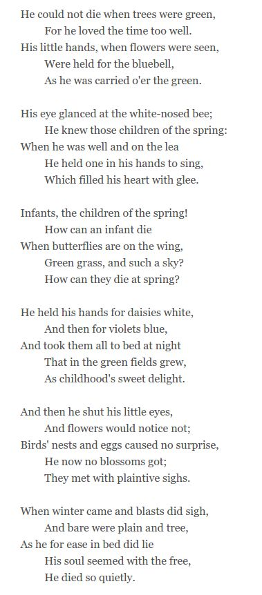 john clare biography poems for kids