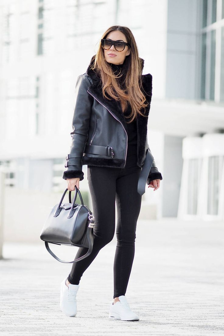 17 best ideas about Black Shearling Jacket on Pinterest ...
