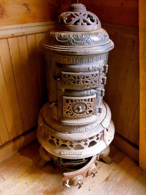 Wood burning parlor stove
