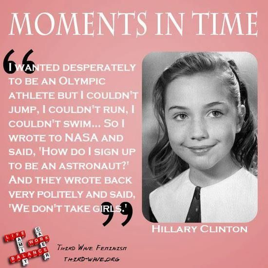 Young Hillary Clinton - on her way to becoming first woman president of the United States