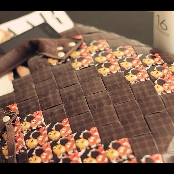 "@ecofashionsf's photo: ""Oversize candy wrapper tote #lifestyle"""
