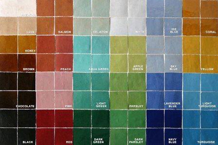 Traditional Moroccan design colours