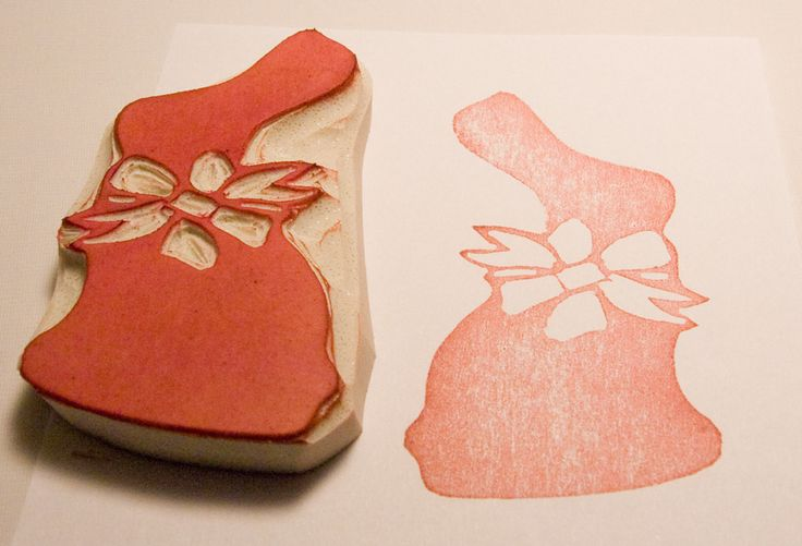 Chocolate Easter Bunny Stamp