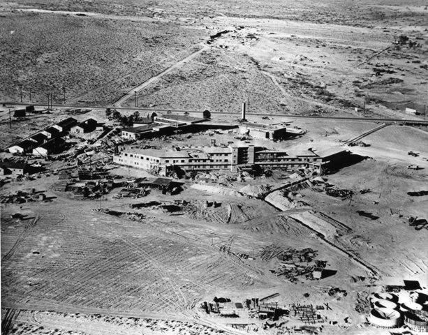 1946 - the Flamingo Hotel & Casino, the third hotel on what would become the Las Vegas Strip being built.