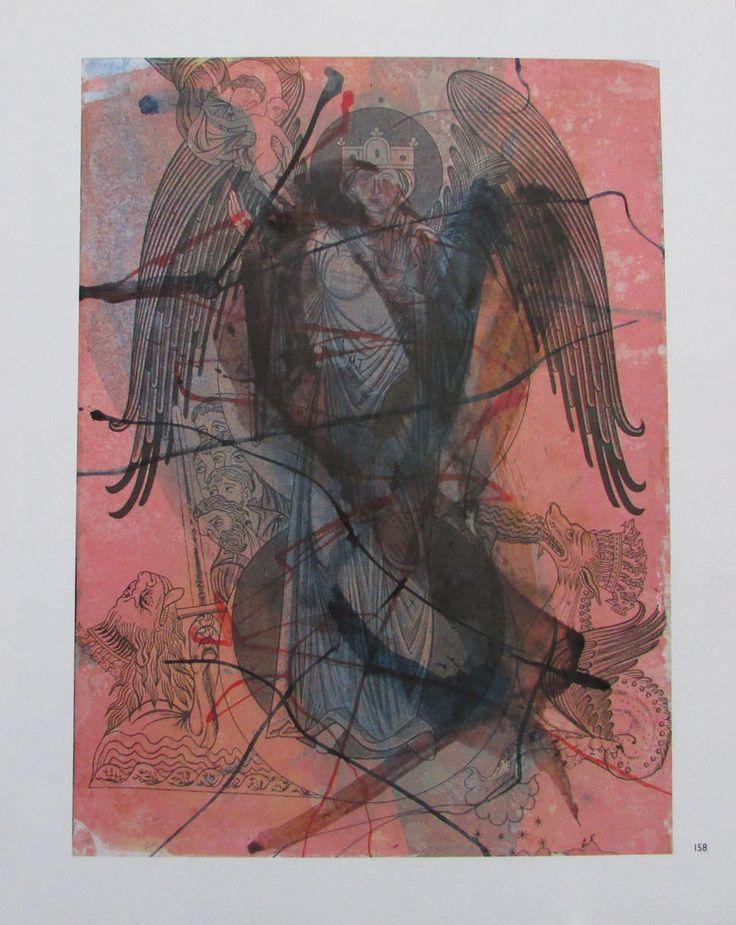 Arnulf Rainer DIE VISION FRAU DRACHEN TIER MEER Übermalung Kunstdruck art print | eBay