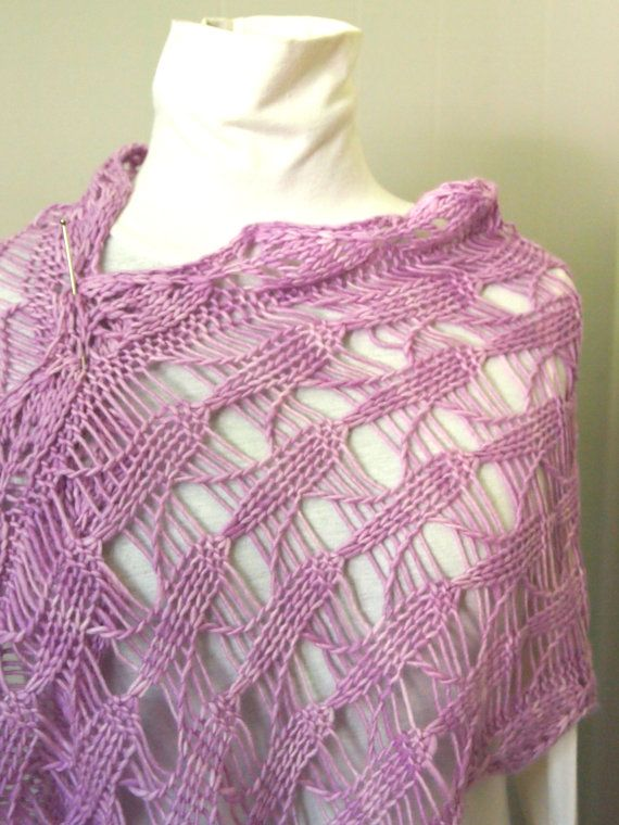 Instant Download pdf Hand Knitting Pattern - Cone Flower Scarf Lace, Hand k...