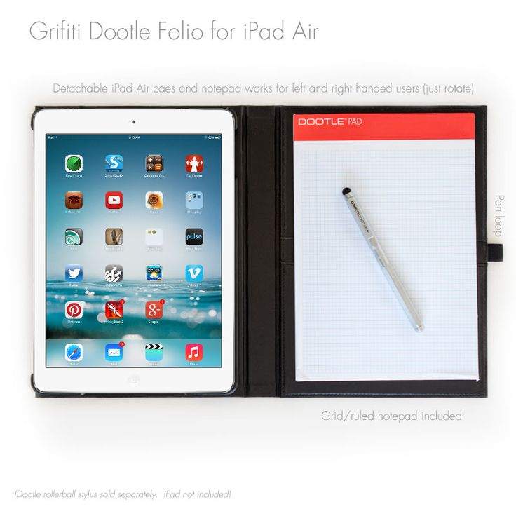 Grifiti Dootle Folio Case for iPad Air 1 and 2
