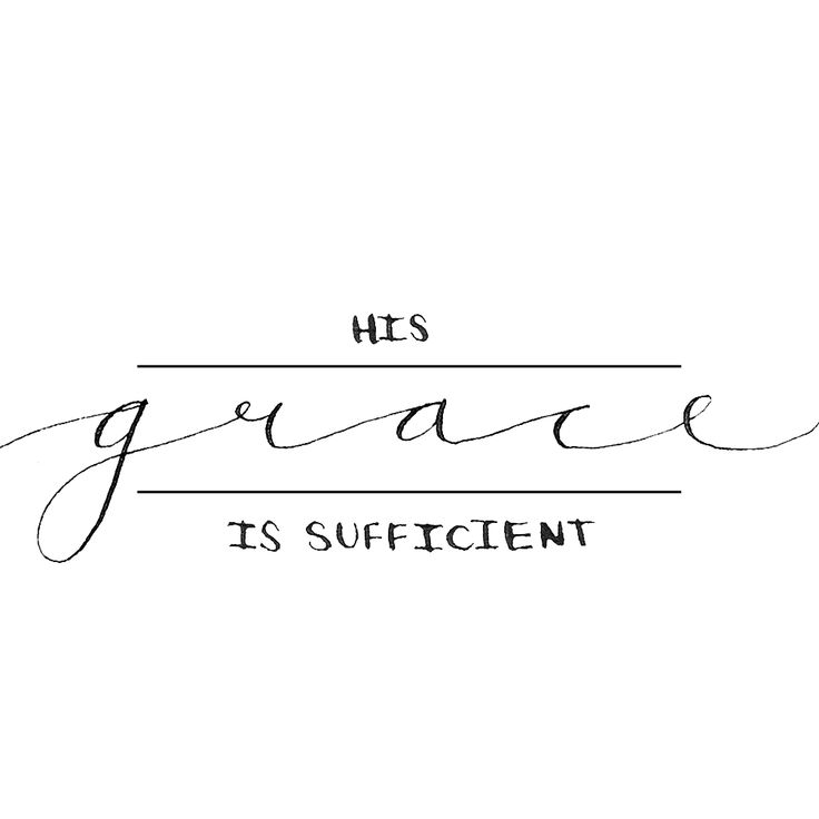 His grace is sufficient. Hannah Rose Beasley #adrawingaday #handlettering #verse