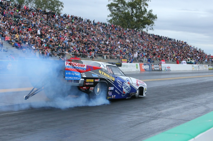 Day two of the FUCHS Winternationals at Willowbank Raceway - John Zappia in Top Doorslammer on his way to a 'five seventy' pass - For info on Saturday's proceedings go to http://www.willowbankraceway.com.au/news/detail.aspx?ArticleID=299 Image - dragphotos.com.au