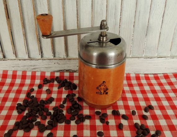 Vintage Coffee Grinder Mill Rare German Vintage Kiel