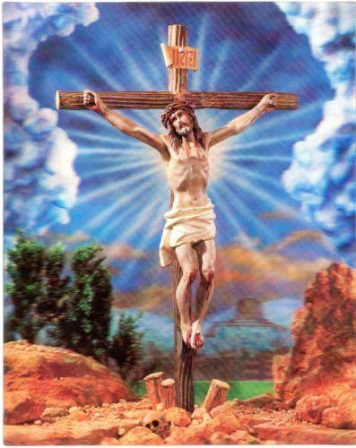 Crucifixion Christ 3D Lenticular 8x10 Poster Ready TO Frame Vari VUE | eBay