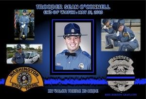 IN MEMORIAM – TROOPER SEAN O'CONNELL Trooper Sean M. O'Connell was struck and killed in a vehicle crash. Preliminary details indicate that Trooper O'Connell was riding his patrol motorcycle and checking the traffic backlog. While he was returning to his traffic control point, he was struck by a white box truck. The force of the collision threw him from his motorcycle. He landed in the middle of the roadway. Trooper O'Connell sustained life-threatening injuries.