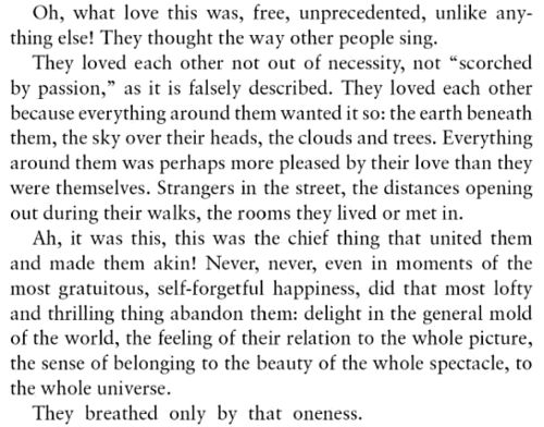 "They breathed only by that oneness... | Boris Pasternak, ""Dr Zhivago"""