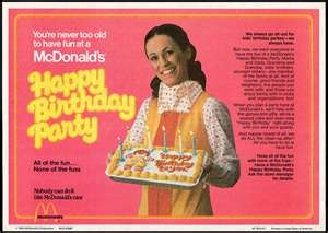 Who else remembers having their birthday party  at mcDonalds?