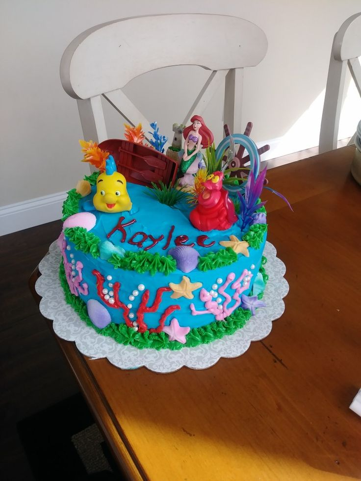 My newest creation for my daughters birthday! #diy #cakes #baking #creations #parenting #mommyblogger #cooking #thelittlemermaid #Disney #children #sixyearsold #princess
