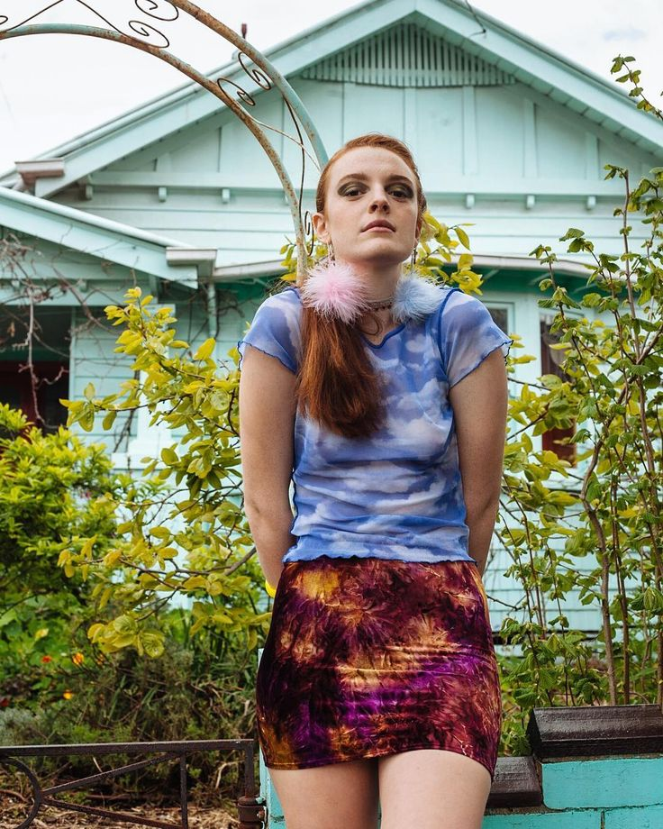 """'Home Soil' on @sticks_and_stones_agency in our Tie Dye mini skirt. """"Locally sourced garments from independent labels this Melbourne team stick to their own hood for their latest gorgeous fashion story."""" Dream team Photographer: @rachelwebbphotography  HMUA: @madeleinegoldsmith Model: @caikelyn Stylist: @iamthetreasurehunter @sticks_and_stones_mothership  #flares #bellbottoms #bells #fashion #fashiondesign #madeinmelbourne #melbournemade #sustainablefashion #design #glam #style #retro…"""