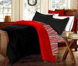 Dorm-Room-In-a-Box: Comforter, Sheet Set, Mattress Pad, Pillow, Towel set -Black Red- Twin XL 10 Pc SET 	FREE DELIVERY $205.99, 10 Pc Set Includes: TWIN XL Reversible Comforter (Black/Red) TWIN XL Sheet Set (Flat, Fitted and 2 Pillow Cases), owel Set (Bath, Hand & Wash) Buy now http://goodsarbitrage.ca/index.php?page=shop.product_details&flypage=shop.flypage&product_id=1443018&category_id=493571&manufacturer_id=0&sku=-468180132&option=com_virtuemart&Itemid=1 TWIN XL Mattress Pad & Laundry…
