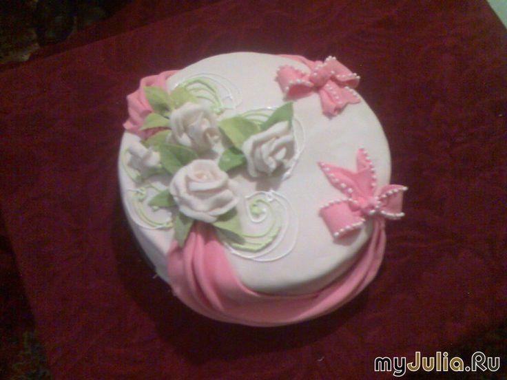 Торт с мастикой женская грудь