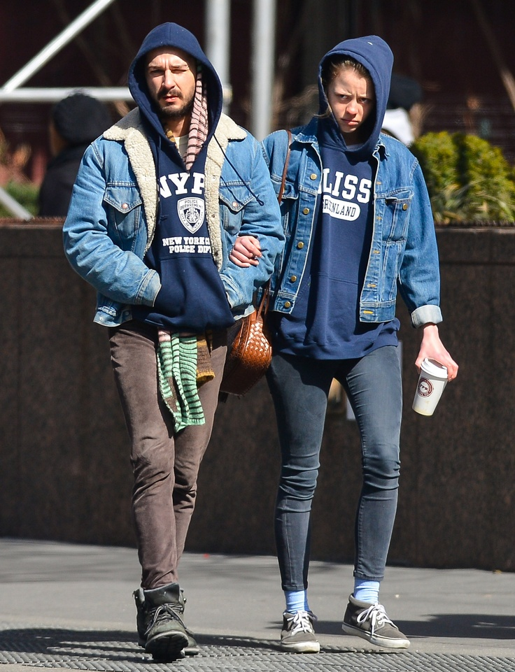 Shia Labeouf and Mia Goth are dating and dressing alike.