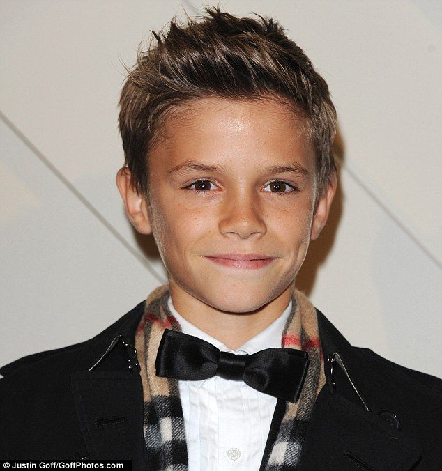 Cute Hairstyles For School For 12 Year Olds : Romeo beckham steals the spotlight from parents david and