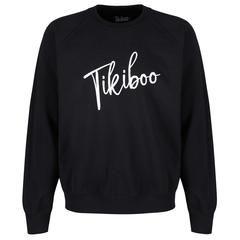 Tikiboo Black Signature Sweatshirt £27.99 #Activewear #Gymwear #FitnessLeggings #Leggings #Tikiboo #Running #Yoga
