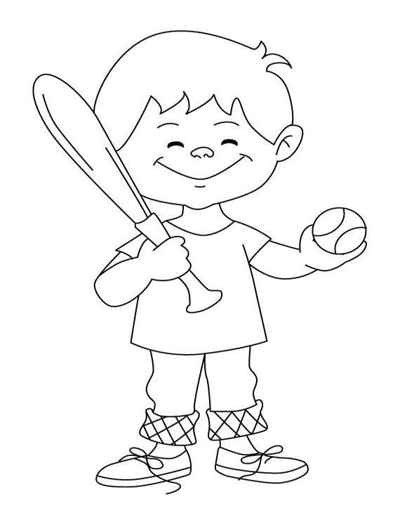 Mejores 45 im genes de sports coloring pages en pinterest for Baseball coloring pages for kids