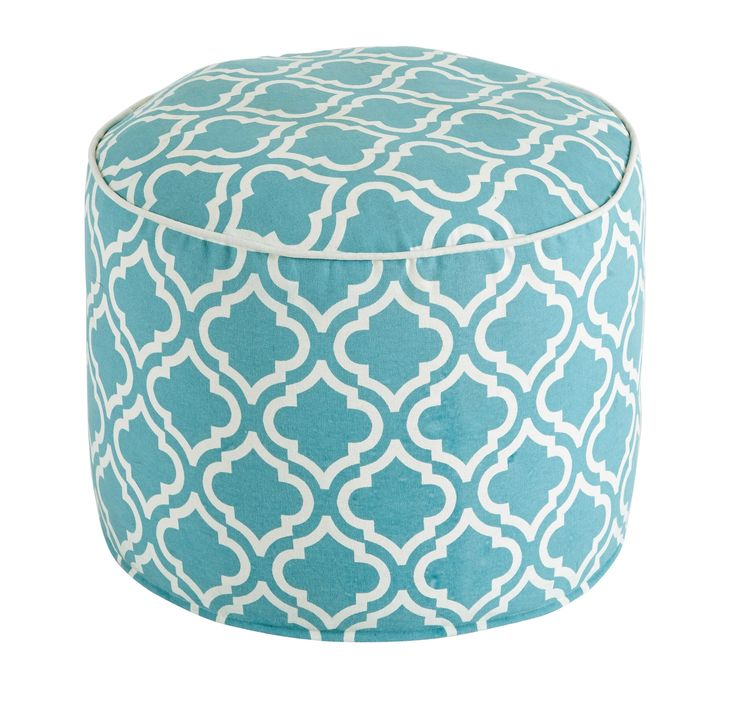 Geometric Turquoise Pouf #shopac #furniture