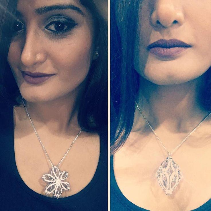 One necklace two ways to wear it  How do you prefer ?  #purplebyanki #diamonds #luxury #loveit #jewelry #jewelry gram #jewelrydesigner #love #gold #jewelrydesign #finejewelry #luxurylifestyle #instagood #follow #instadaily #lovely #me #beautiful #dubaifashion #dubailife #mydubai #beautiful #love #jewelgoals#flowers #bosslady #thediamondqueen @hudabeauty #hudabeautyliquidmatte #hudabeautylipcontour @toofaced #eyeshadowpalette
