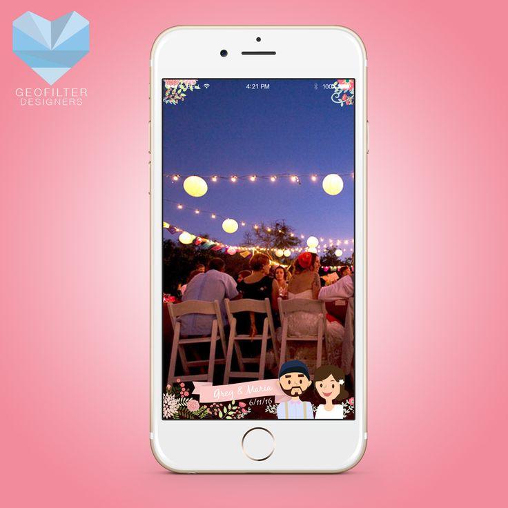 Snapchat Wedding Geofilter   Simple Bride & Groom Cartoon   Wedding Geofilter   Custom Design   Snapchat Geofilter   Wedding Gift   Gift Idea   Couples Gift Idea