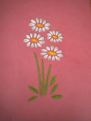 Embroidery on paper