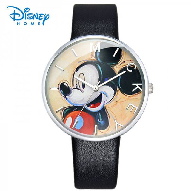 style watch round mickey hapiness simple best watches digital disney fashion casual product mouse children cartoon leather quartz