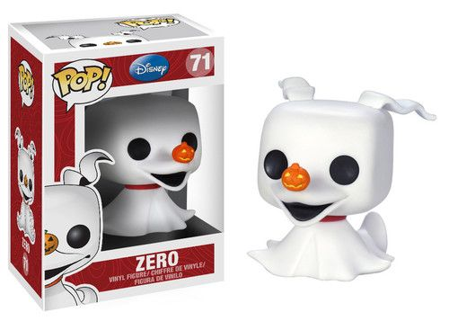 It's Jack Skellington's beloved ghost dog, Zero, from the classic Christmas movie The Nightmare Before Christmas. This figure features his signature nose in the shape of a pumpkin. Just like that famous reindeer from a different story, Zero helps his master find his way through the fog on Christmas Eve. #nesteduniverse