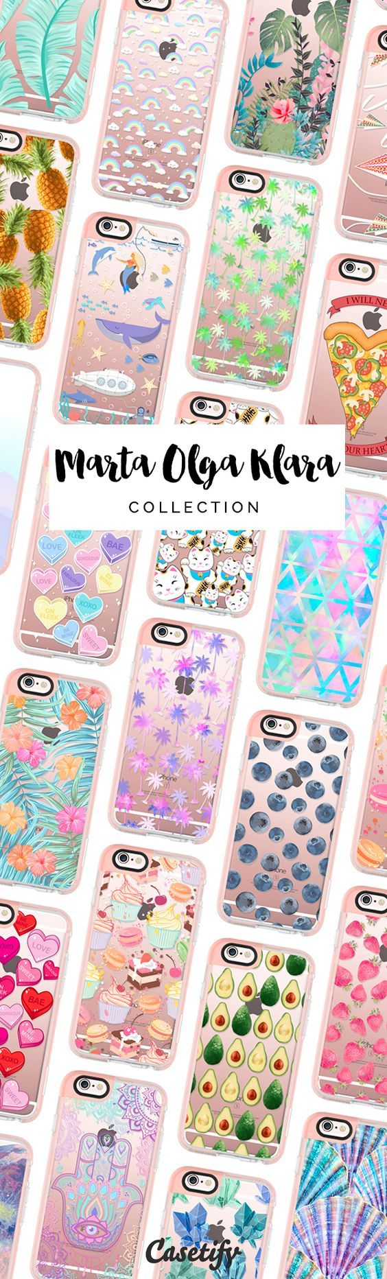All time favourite floral animal food iPhone 6 protective phone case designs by @martaolgaklara | Click through to see more iphone phone case ideas >>> https://www.casetify.com/martaolgaklara/collection #pastel | @casetify