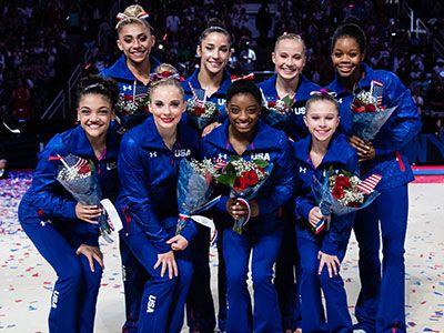 2016 Rio Olympic Gymnastics Team//Simone Biles, Gabby Douglas, Laurie Hernandez, Madison Kocian,, and Aly Raisman •Replacement athletes//Ashton Locklear, MyKayla Skinner, and Ragan Smith