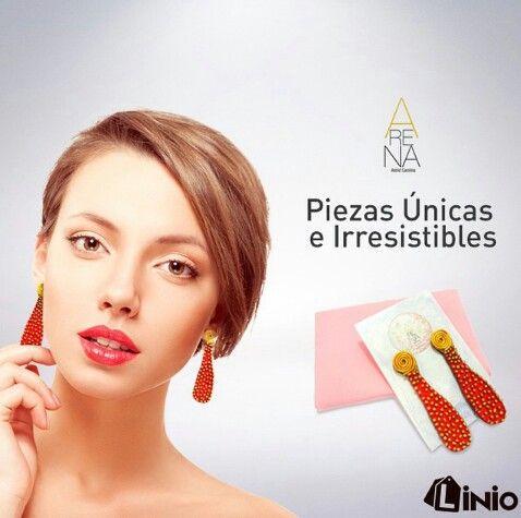 En Arena somos diseño de accesorios únicos e irrepetibles, ingresa a www.linio.com.ve en Venezuela y mira todo lo que tenemos para ti ❤ @liniovenezuela ❤ #fashion #moda #liniove #trendy #accesorios #handmade #accesoriosunicos #accesoriosirrepetibles  #earring #necklace