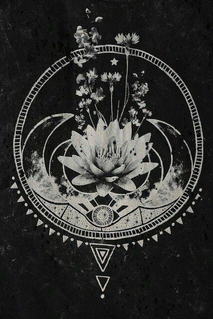 Lotus moon print