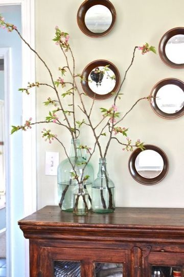 How to force branches to flowerMoss Eclectic, Flower Branches, Apartments Therapy, Bud Branches, Branches In Vases, Trees Branches, Glasses Jars, Tree Branches, Force Branches