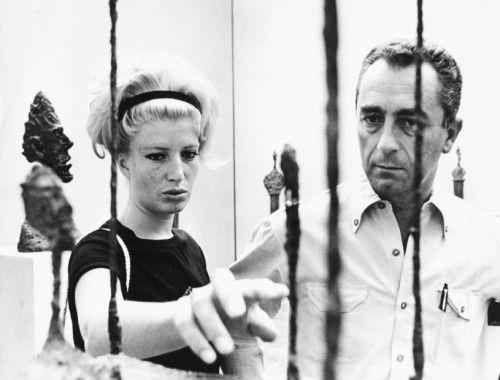 Monica Vitti and Michelangelo Antonioni