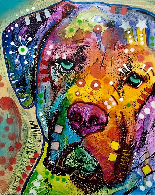 Mixed Media Painting by Dean Russo / Dumbo Arts Center: Art Under the Bridge Festival 2009 / 20090926.10D.54883.P1.L1.CC / SML, via Flickr.