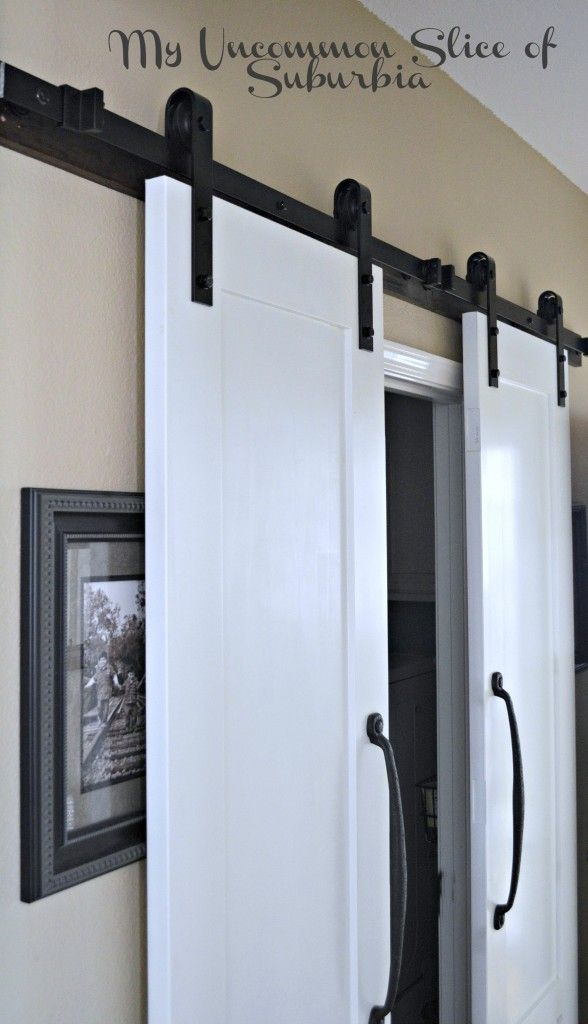 17 best images about barn doors on pinterest pocket for Pantry barn door hardware