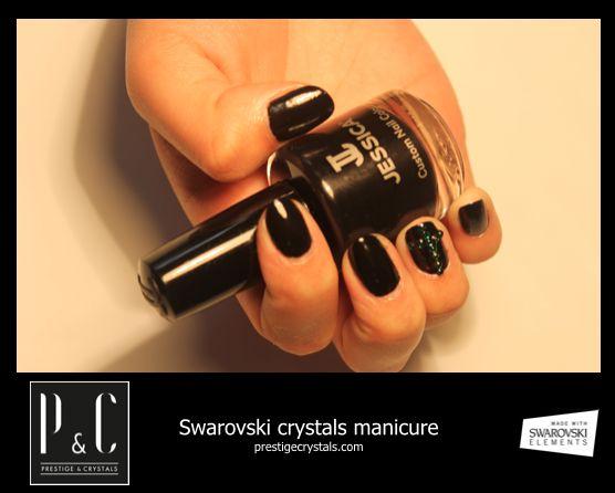 Prestige & Crystals For Profesional Salon  Swarovski Crystals Manicure http://www.prestigecrystals.com/  Made With Swarovski Elements Esmaltes Jessica Cosmetics Colombia