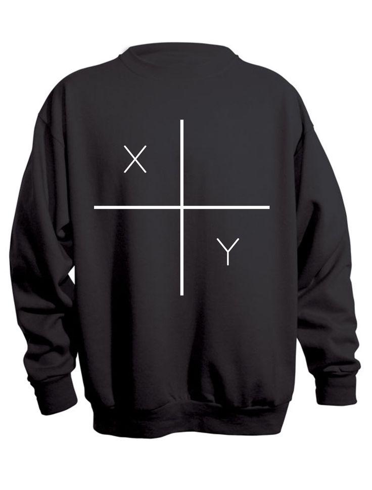 X, Y sweatshirt in sale