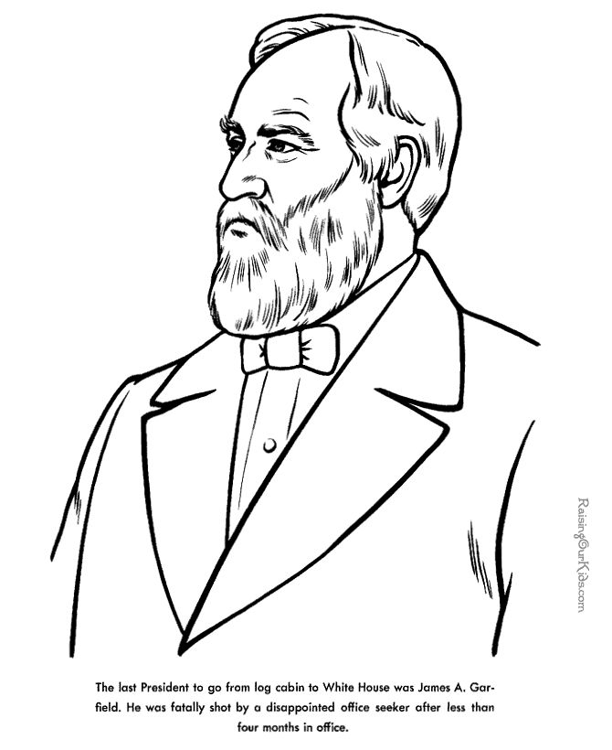 Free Printable President James A. Garfield Facts And