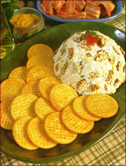 Bola de queso crema y pollo