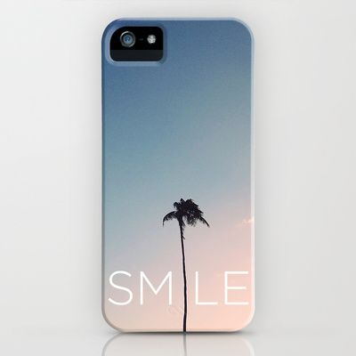 Palm tree Smile iPhone & iPod Case by Goldfish Kiss - $35.00