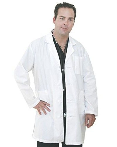 Medgear Lab coats for Men and Women Long Sleeve Snow White  #scrubs #nurse #doctor #hospitalstyle #medicalstyle #scrubsets #medicalscrubs #labcoats