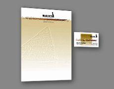 Пример фирменного оформления стиля полиграфии бланка визитки созданного для компании фирмы дизайн графика печать в типографии