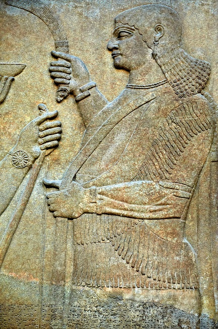 Assyrian relief sculpture panel from nimrud iraq